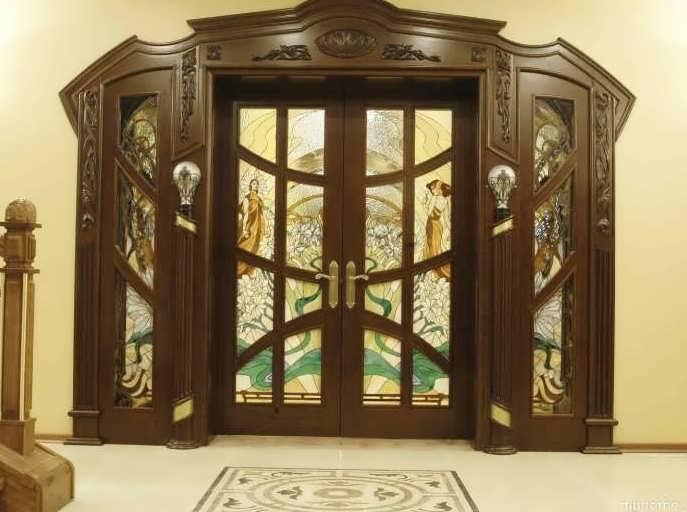 Фото: царговая дверь в интерьере