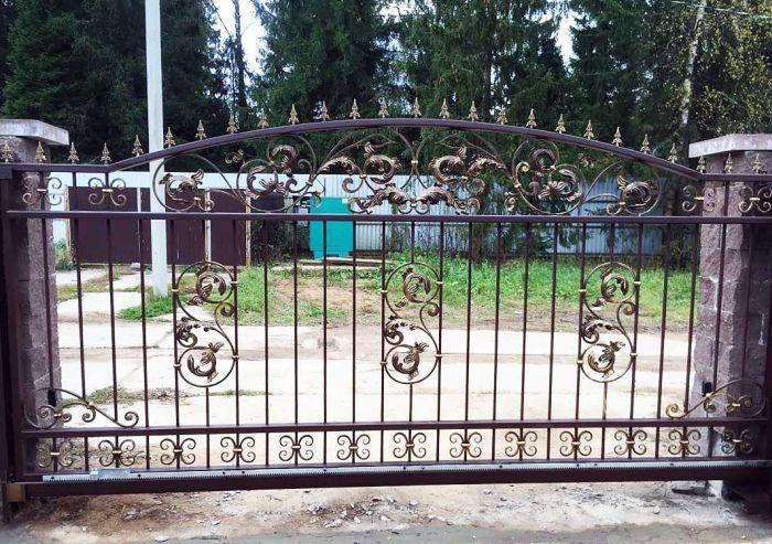ковка ворота для загородного дома