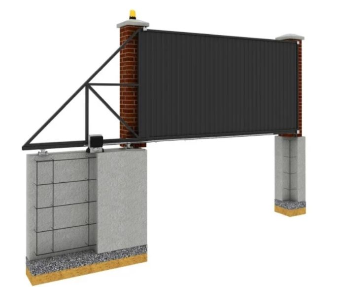 бетонный фундамент для ворот