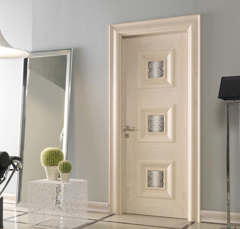 межкомнатные двери беленый дуб со стеклом