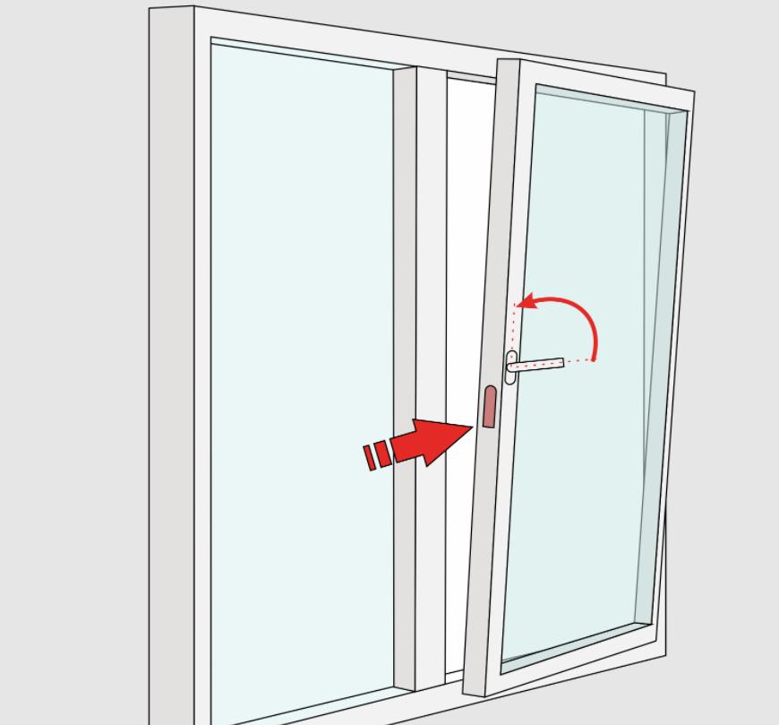 как закрыть неправильно открытое пластиковое окно