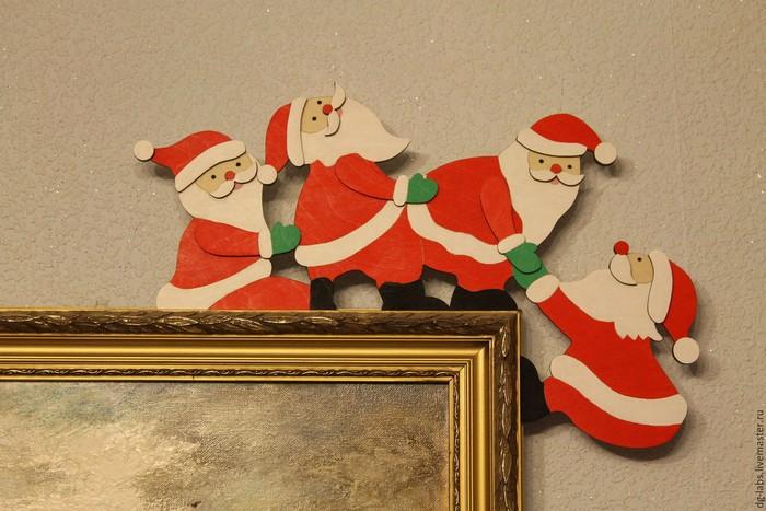 Украшение в виде Деда Мороза 2