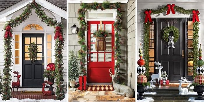 Красивая новогодняя дверь