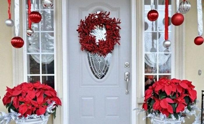 как украсить дверной проем к новому году