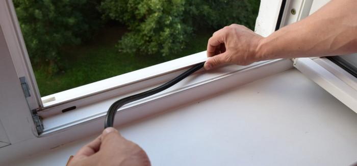 замена утеплителя окна